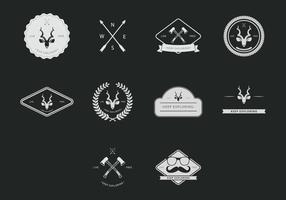 Kudu hipster icon set vektor