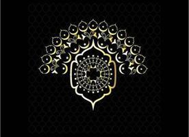 dekorativ lyxig islamisk design av raya mönster