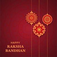 Raksha Bandhan Design mit 3 Mandalas vektor