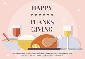 Blush Thanksgiving Vektor Abendessen