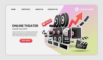Online-Kino-Service-Konzept vektor