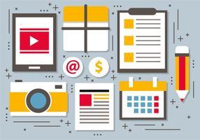 Free Flat Digital Marketing Vektor-Illustration vektor