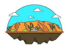 Grand Canyon Vektor-Illustration vektor