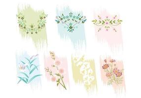 Vackra blommor vektorpaket vektor