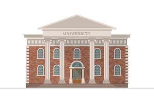 Universitätsgebäude isoliert vektor