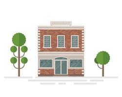 restaurang tegelbyggnad vektor