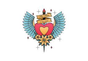 Alte Schule Tattoo Vektor-Illustration