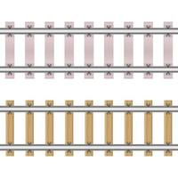 Eisenbahnen isoliert auf weiß