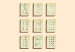 Mahjong vektorikonen vektor