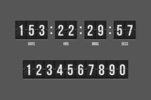 Countdown-Timer für mechanische Anzeigetafel