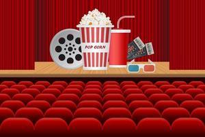 Unterhaltungselemente in einem Theater vektor