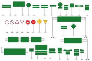 realistische Verkehrszeichen vektor