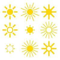 sun icon set vektor
