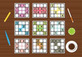 Sudoku vektor uppsättning