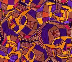 ljusa färgglada polygon skalle sömlösa mönster vektor