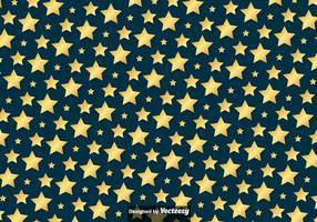 Vektor Golden Stars Pattern