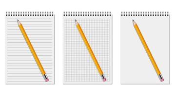 Satz realistischer Notizbücher vektor