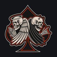 Skelette in einer Spatenform