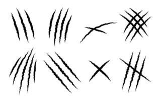 Satz von Tierkrallenkratzern vektor