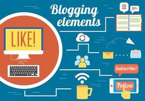 Kostenloser Blogging-Vektor-Design vektor
