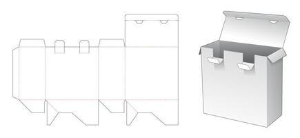 2 Verschlusspunkte Verpackungsbox vektor