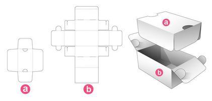 2 vänd förpackningsbox med sköld