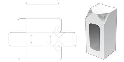 2 abgeschrägte Ecke hohe Box mit Fenster vektor