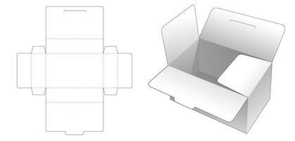 Aufbewahrungsbox mit Deckel und Klappen vektor
