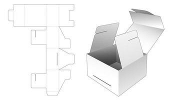 Geschenkboxverpackung umdrehen vektor