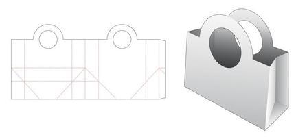 shoppingväska med cirkelhandtag vektor