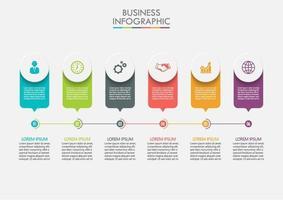Geschäftsinfografik mit Kreis und bunten Etiketten