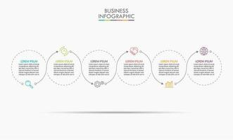dünne Linie minimales Infografik-Design