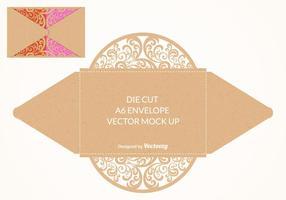 Free Vector Die Cut Umschlag Mock Up