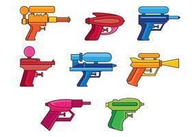 Set Wasserpistole Icons vektor