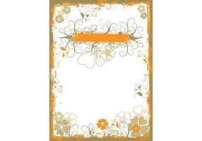 Grungy Floral Wallpaper Vektor