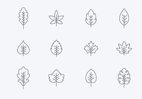 Kostenlose Simple Hojas Icons vektor