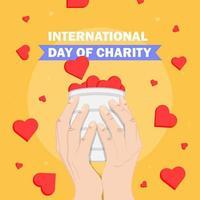 Internationaler Tag der Wohltätigkeit Poster vektor