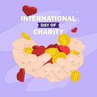 dag för välgörenhetsaffischdesign vektor