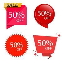 special försäljning rabatt klistermärke uppsättning vektor
