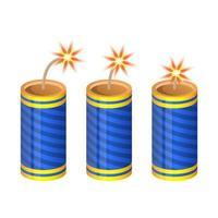 blaue Feuerwerkskörper isoliert