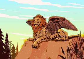 Winged Lion Vektor