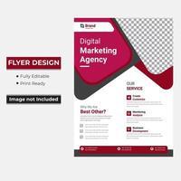 Corporate Business Flyer mit abgerundeten Dreiecksformen vektor