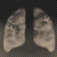 lungor gjorda av rök vektor