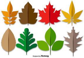 Ahorn Blätter Bunte Set vektor
