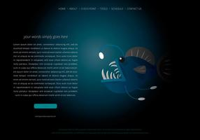 Änglar fisk webbsida mall vektor