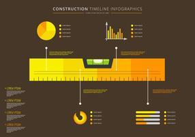 Level Timeline Infografischer Vektor