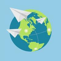 flyg som flyger runt om i världen
