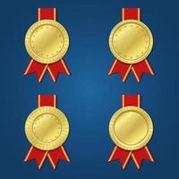 Gewinner Medaille isoliert vektor