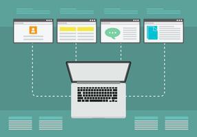 Portal-Geschäft Mehrfache Arbeit vektor