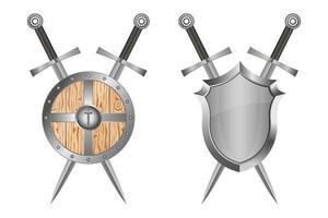 Schild und Schwert vektor